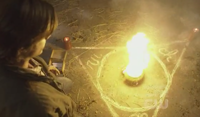 3x16 - No Rest for the Wicked sam summoning demon