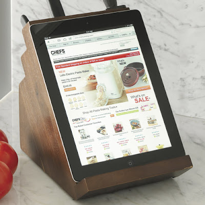 knife block with shelf for iPad