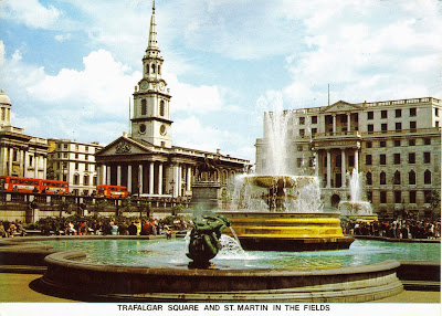 Trafalgar Square and St Martin In The Fields, London, England
