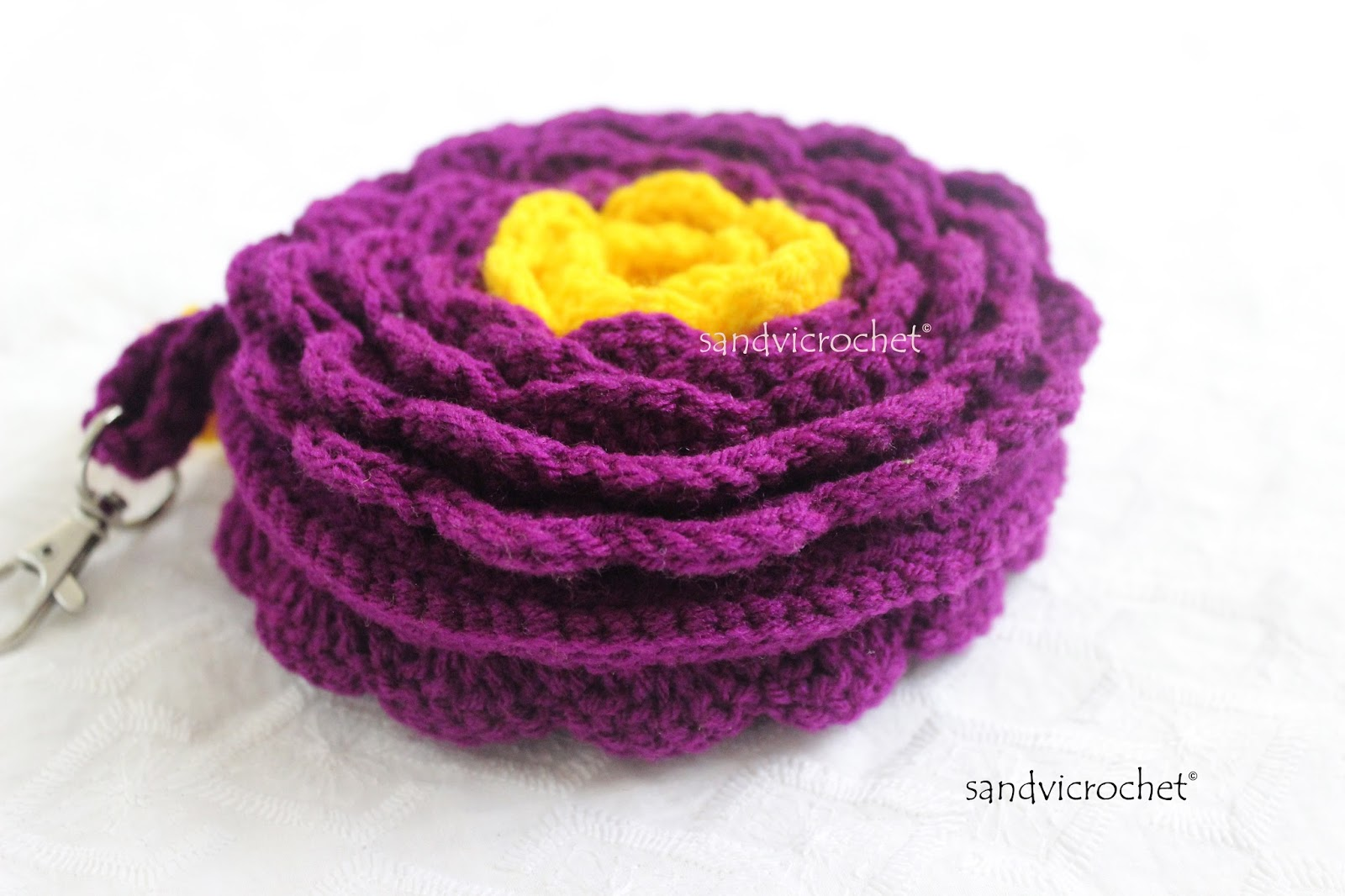 For the Love of Crochet Along: crochet flower purse