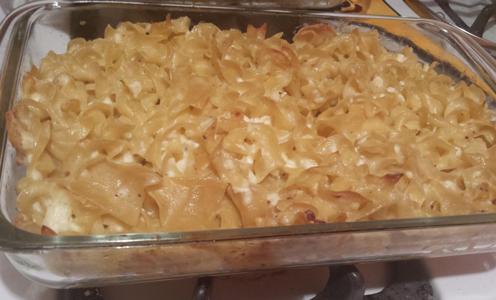 Galley Kitchen Gourmet: Savory Lokshen (Noodle) Kugel