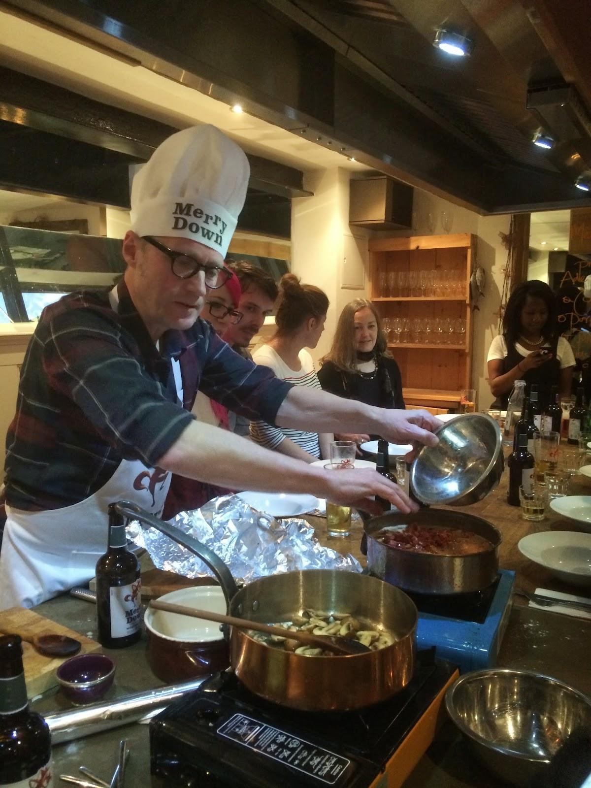Ade Edmondson cooking at Food at 52 copyright madmumof7.com