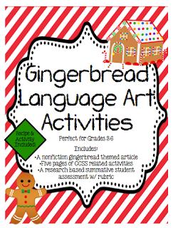 http://www.teacherspayteachers.com/Product/Gingerbread-ELA-Mini-Unit-w-a-Research-Project-996872