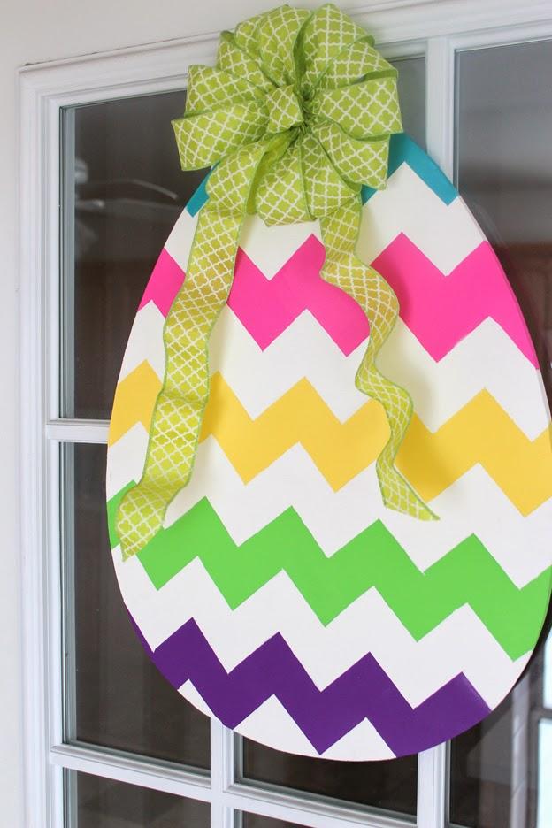 DIY Easter Egg Door Hanger  sc 1 st  Fashion meets Food & DIY: Easter Egg Door Hanger | Fashion meets Food