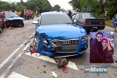 Punca sebenar Kereta Audi milik Fizo Omar kemalangan teruk di Kuala Krai