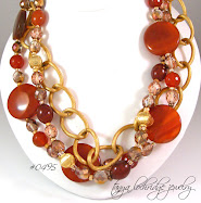 Carnelian & Gold Vermeil Necklace