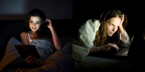 Uso de tecnologia antes de dormir afeta o sono