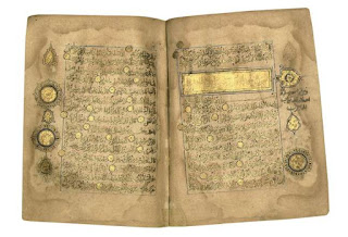 800 years Quran, transcribed in gold.