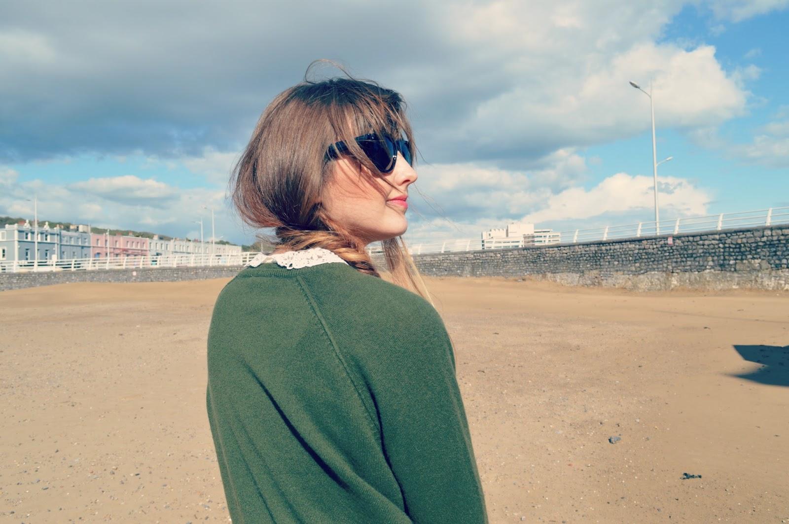 whistles cashmere jumper vintage blouse