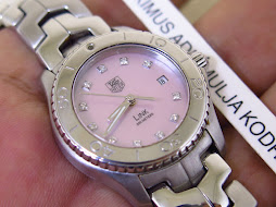 TAG HEUER LINK 200 METERS PINK MOTHER OF PEARL 11 DIAMONDS DIAL - LADY WATCH
