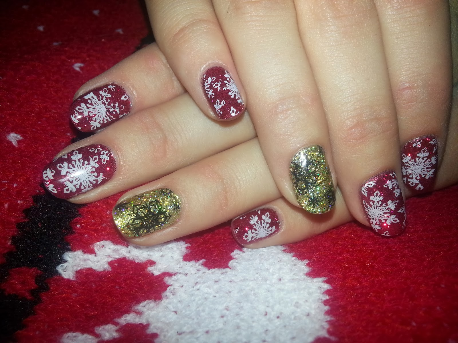 And Last But Not Least My New Years Nails I Will End The Year With Favourite Shape Colours Hope Everyone Has Had A Good X