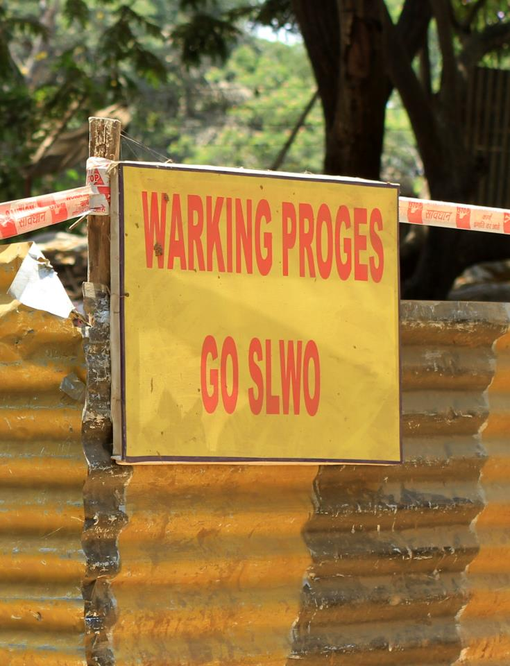 warking proges, funny english signs in India
