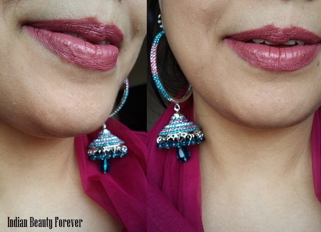 Lakme 9 to 5 Lipstick Pink Bureau Review, swatches