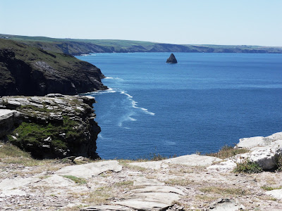 View of cliffs from Tintagel Castle