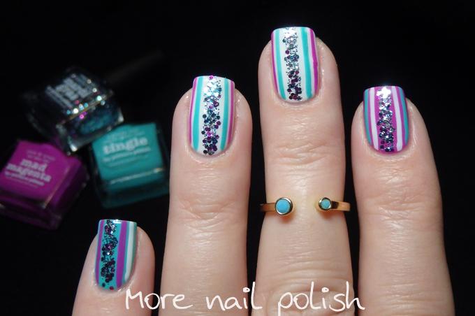 Picture Polish - Mardi Gras video tutorial nail art ~ More Nail Polish