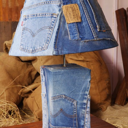 Denim lamp