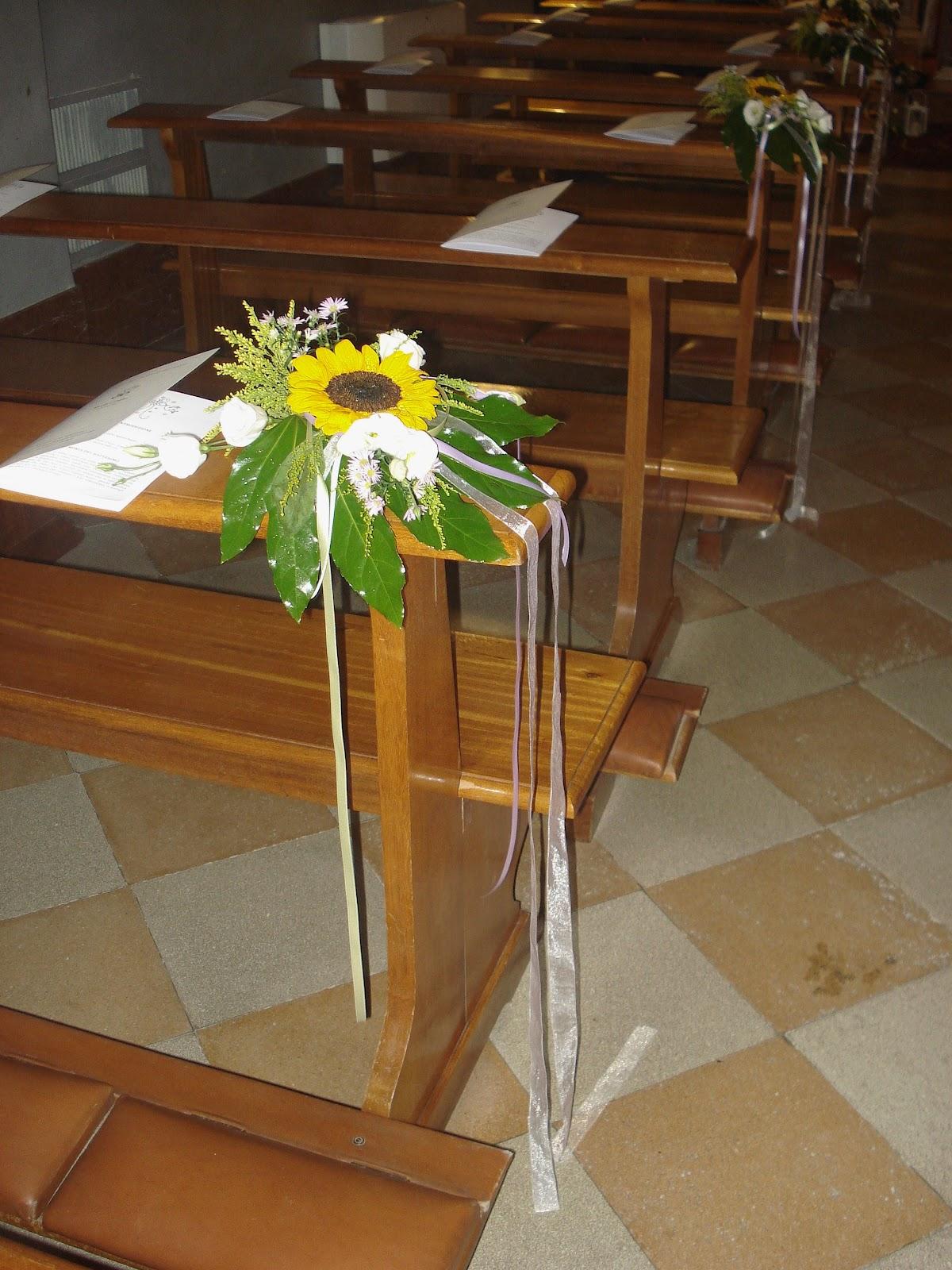 Girasoli Chiesa Per Matrimonio : I verdi prati dell incanto addobbo chiesa con girasoli
