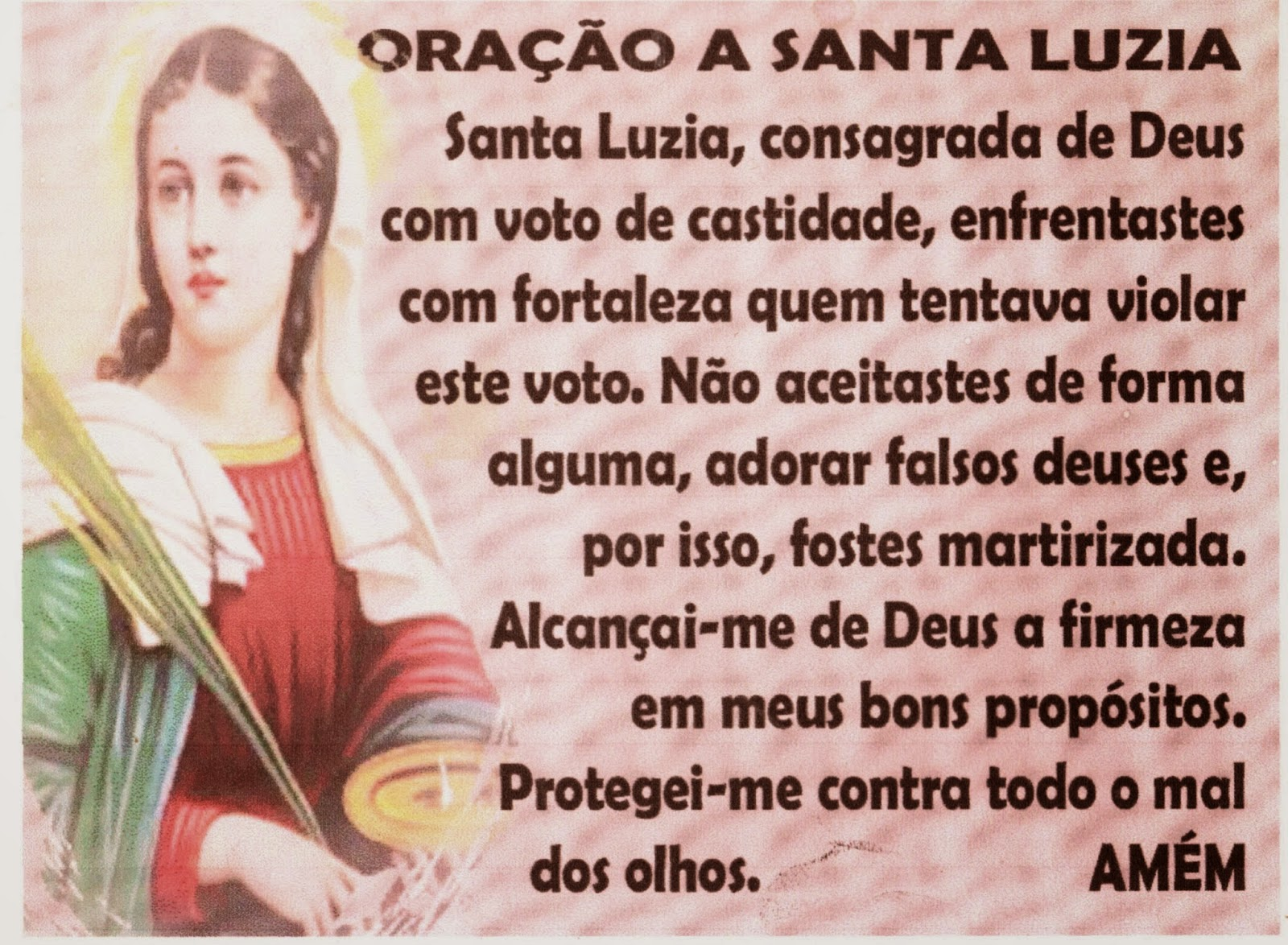 Resultado de imagem para Oração a Santa Luzia