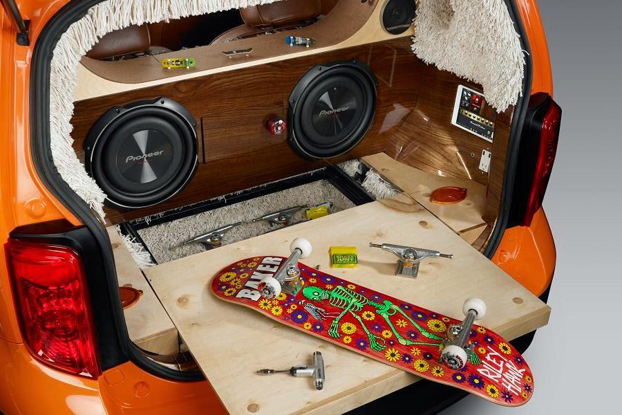 Scion xB (KMA Productions x Riley Hawk Skate Tour) (2014) Luggage Compartment