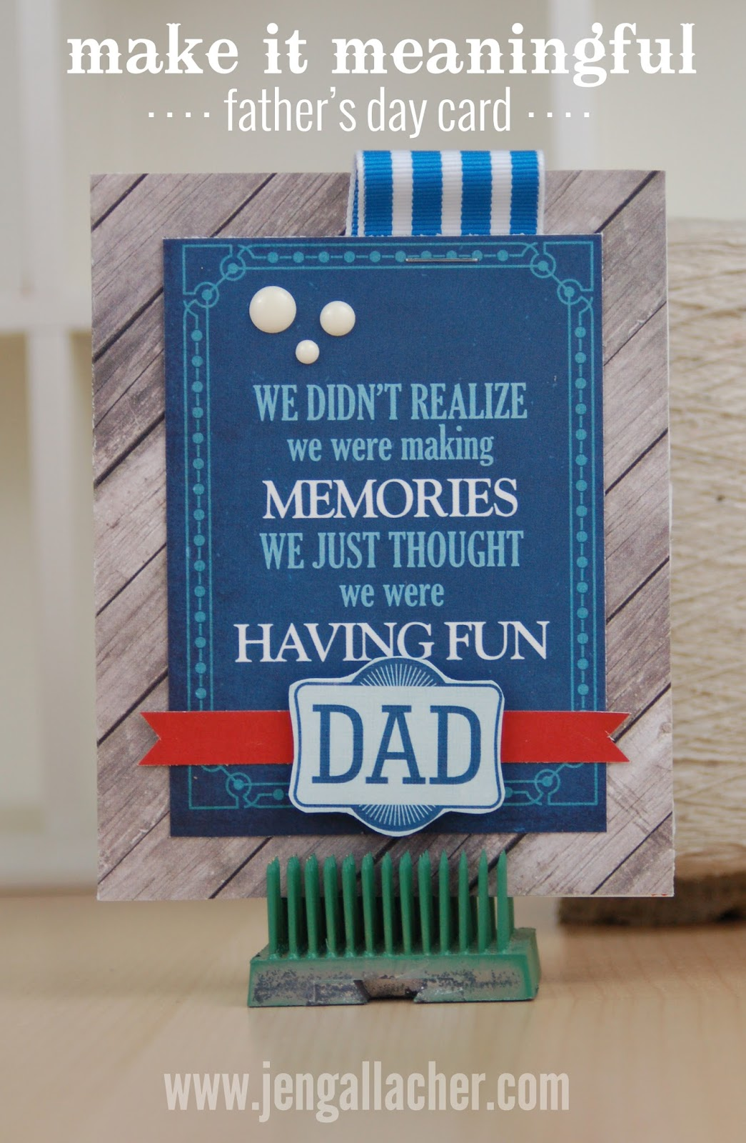 Fathers Day Card by Jen Gallacher from www.jengallacher.com