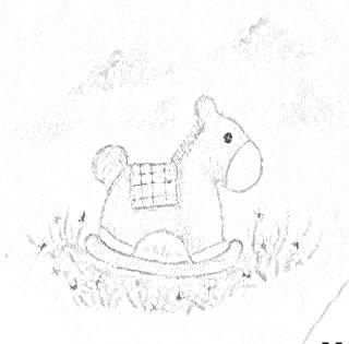 pintura em tecido infantil fralda risco cavalinho de pau