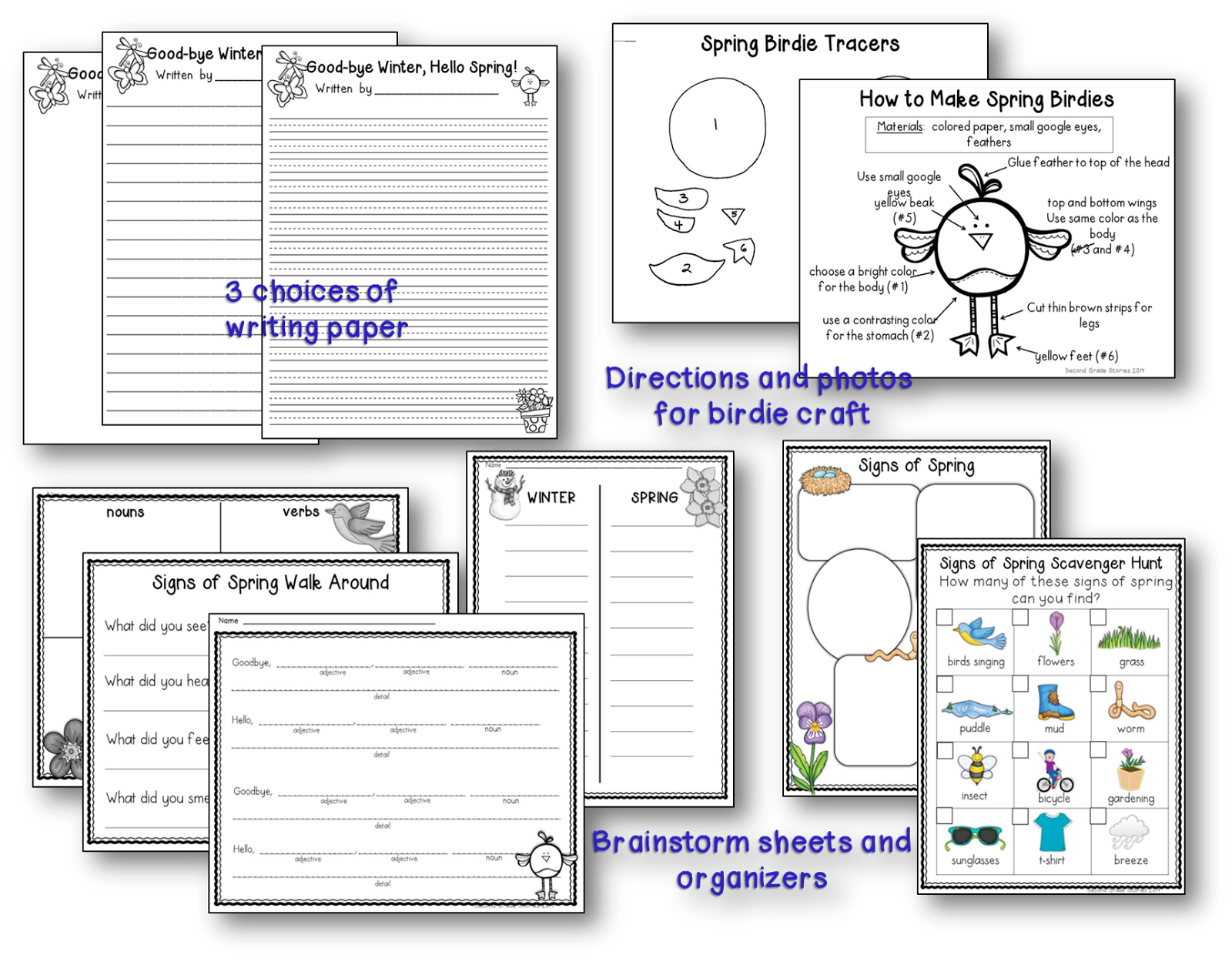 http://www.teacherspayteachers.com/Product/Spring-writing-Goodbye-Winter-Hello-Spring-635494