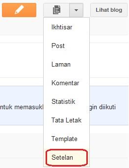 Opsi lainnya di blogger.com