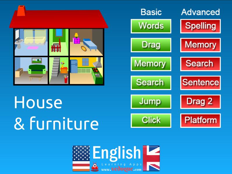 Vedoque inform tica educativa juegos educativos gratis for Mobiliario en ingles