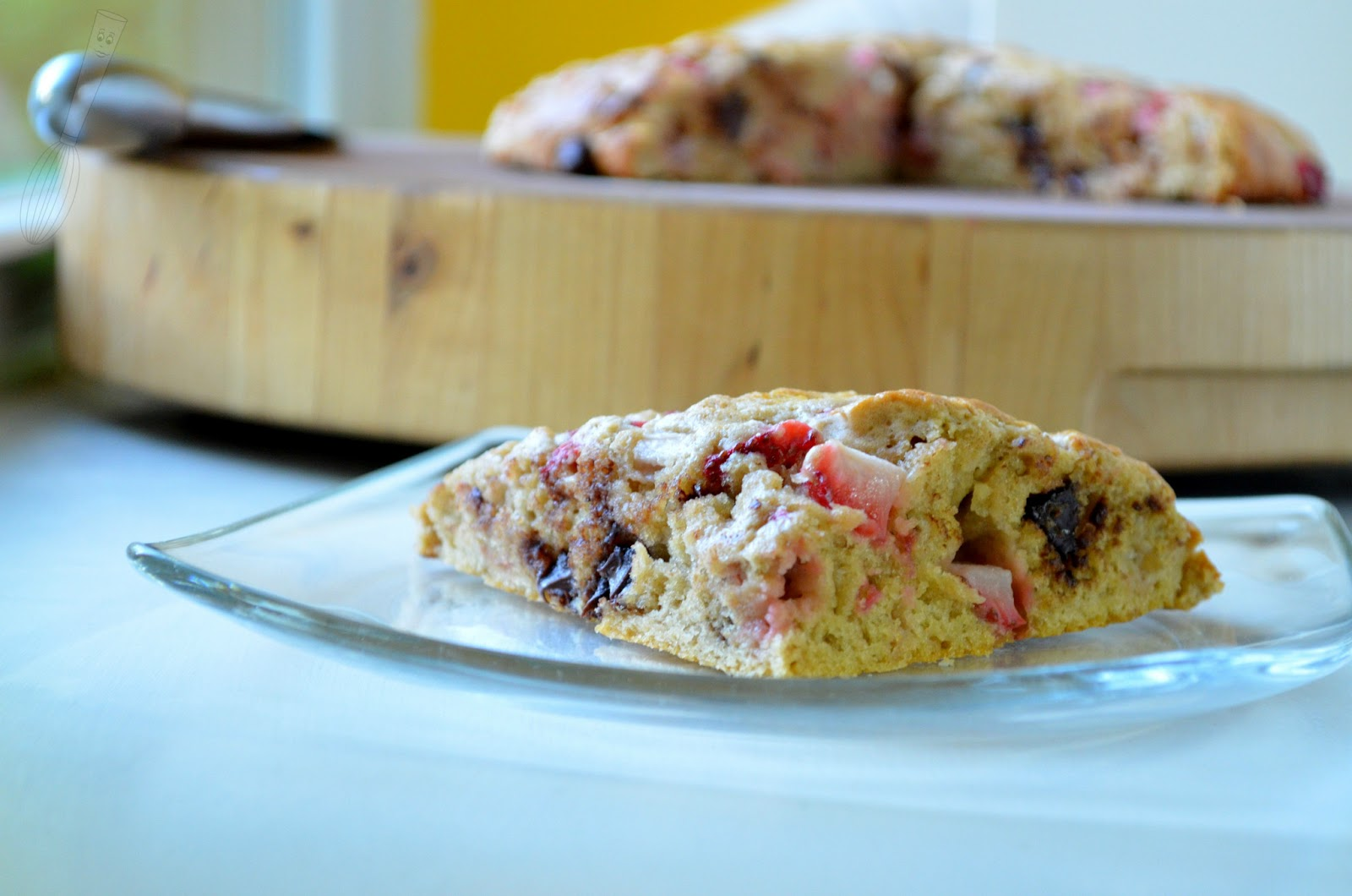 Strawberry & Chocolate Chip Scones | Searching for Dessert