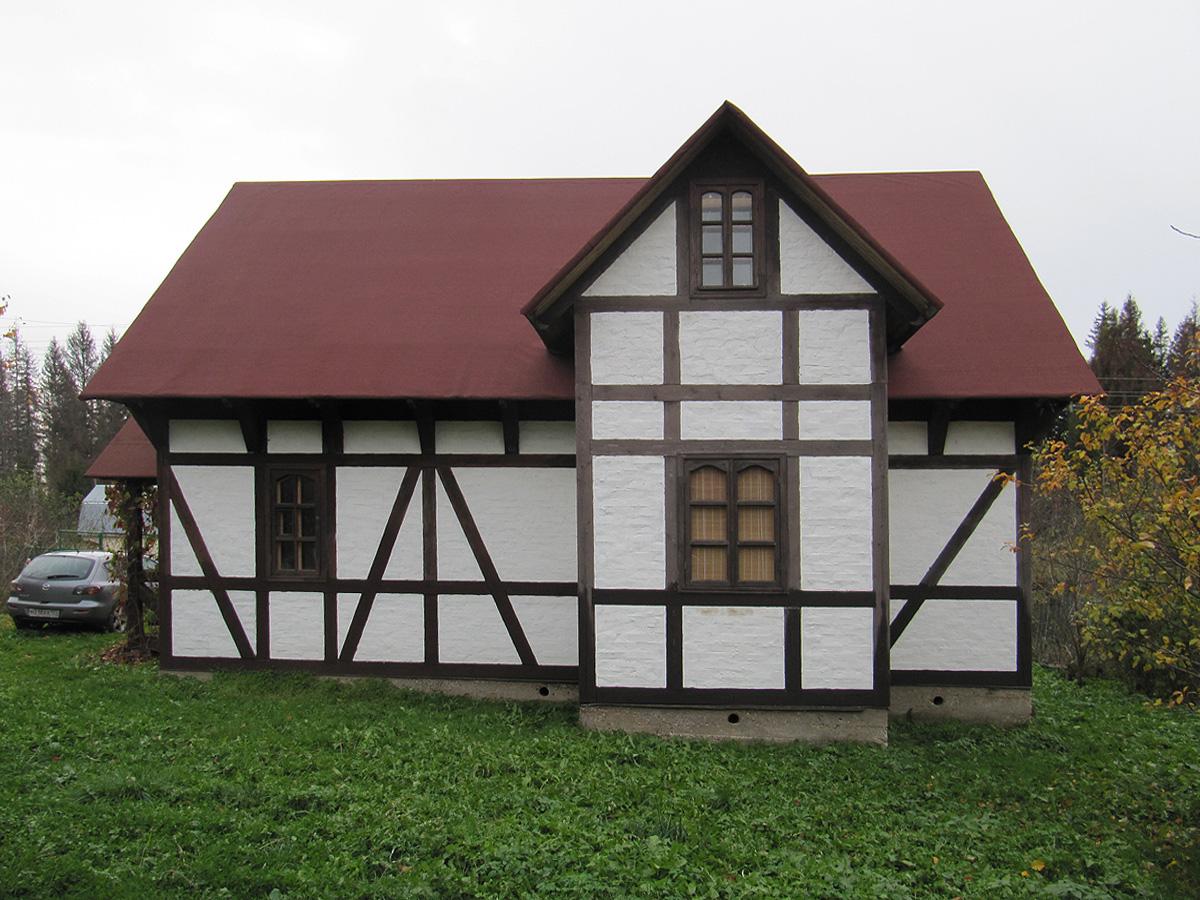 Отделка фасада в стиле фахверк
