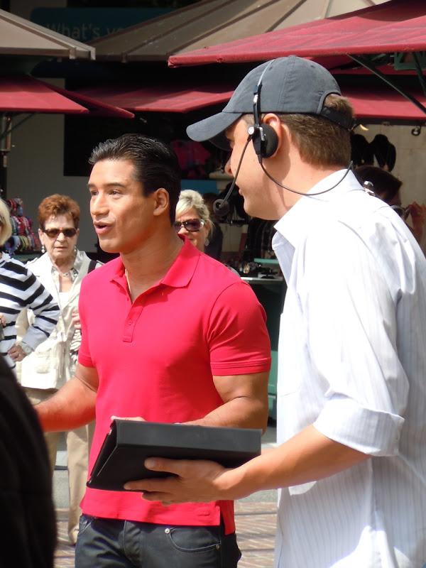 Mario Lopez at The Grove