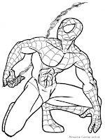 Lembar Mewarnai Gambar Spiderman
