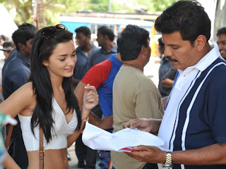 Amy Jackson with shankar shooting