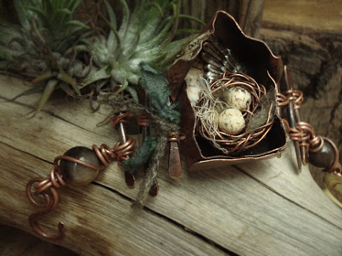 metal jewelry birdnest