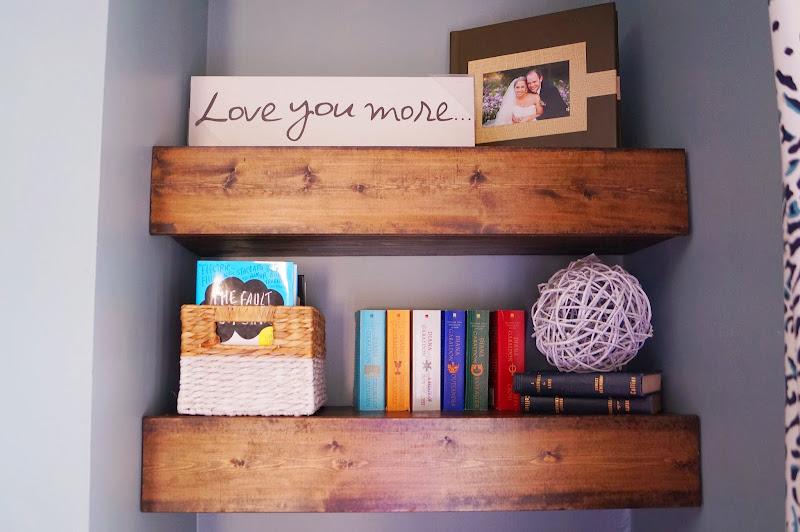 Chunky Wood Floating Shelf