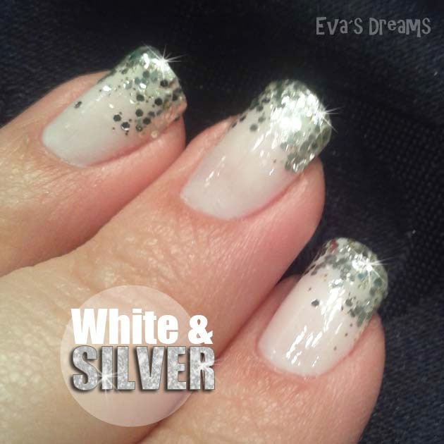Nails of the week - Nail art - White & Silver