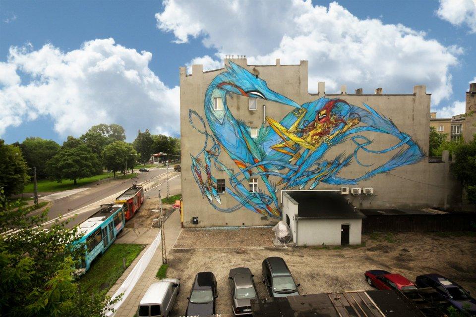 Shida New Mural In Lodz Poland Streetartnews