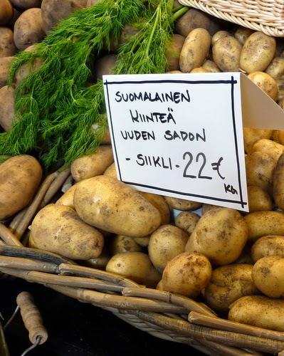 Finnish New Potatoes from the Kauppatori in Helsinki