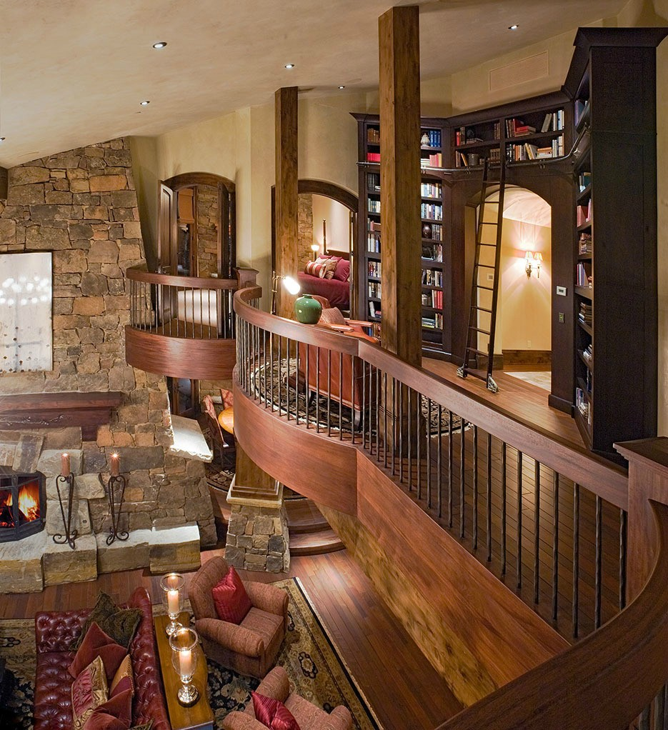 Ski dream home luxury mountain retreat utah most for Balcony living room design