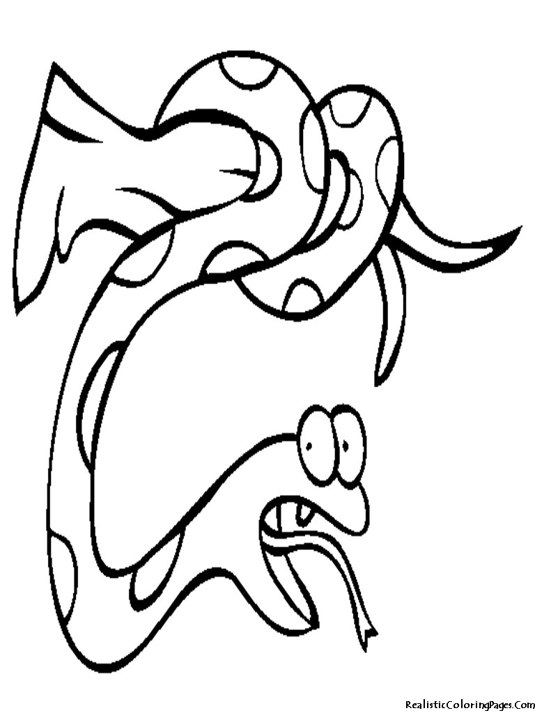Realistic Coloring Pages Of Snakes Realistic Coloring Pages