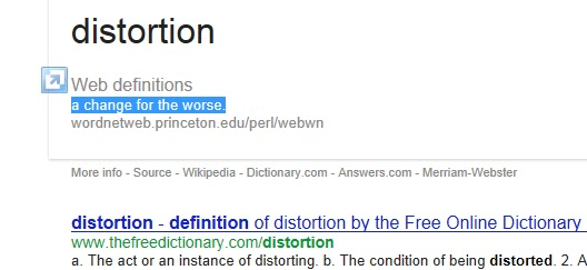 Superior ... Find The Definition For The Word Distortion. Many Different Definitions  Came Up But The Main Web Definition Stood Out For Me Because It Seemed The  Most ...
