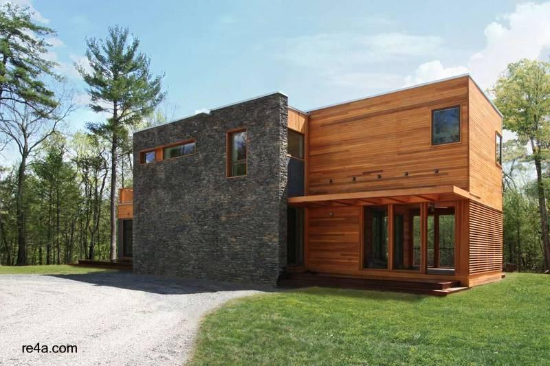 Arquitectura de casas casa prefabricada modular en nueva - Casas piedra y madera ...
