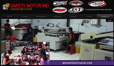 Pabrik helm di Jakarta