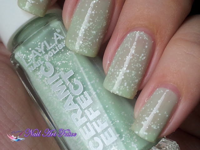 CE105 Mint Dynasty - Ceramic Sorbet Effect Layla - Swatch02 - Nail Art Felice