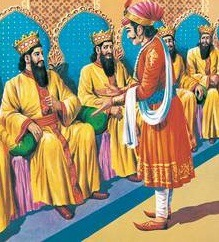Birbal in Akbar's court