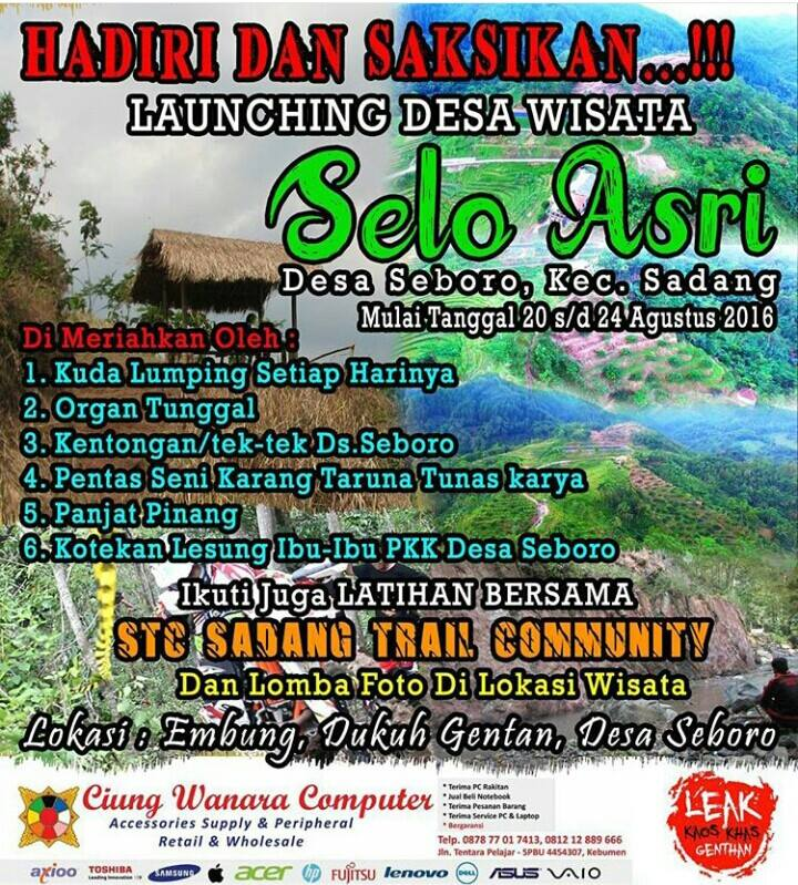 Launching Desa Wisata Selo Asri