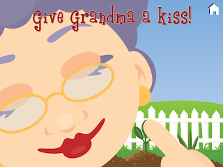 Give Grandma a kiss