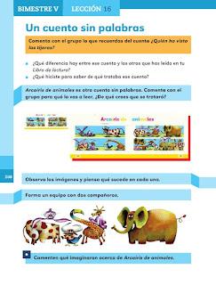 Apoyo Primaria Español 1er grado Bimestre 5 lección 16 Un cuento sin palabras