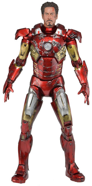 NECA Avengers 1/4 Scale Battle-Damaged Iron Man Mark VII Figure