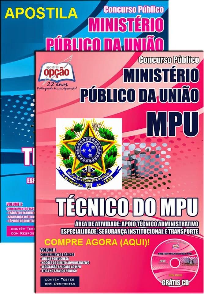 Curso de Português GRÁTIS - Apostila MPU Técnico -  Segurança Institucional e Transporte 2015